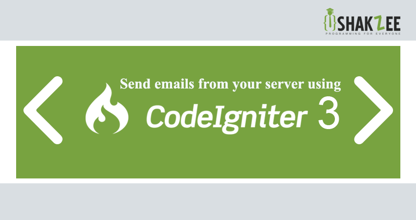 How to send emails from your servers using codeigniter